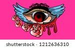 vector illustration of eyes and ... | Shutterstock .eps vector #1212636310