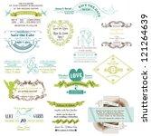 wedding vintage invitation... | Shutterstock .eps vector #121264639