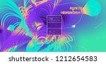 fluid color background. liquid... | Shutterstock .eps vector #1212654583