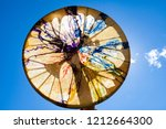 man holding his sacred drum in... | Shutterstock . vector #1212664300