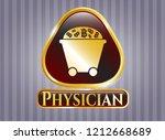 golden emblem or badge with... | Shutterstock .eps vector #1212668689