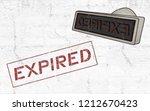 expired sign design   Shutterstock . vector #1212670423