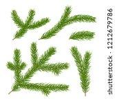 realistic 3d fir branches... | Shutterstock .eps vector #1212679786