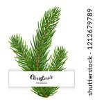 realistic 3d fir branches... | Shutterstock .eps vector #1212679789