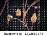wrought iron gates  ornamental... | Shutterstock . vector #1212683173