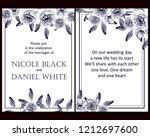 romantic wedding invitation... | Shutterstock . vector #1212697600