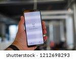 riga  october 2018   recently... | Shutterstock . vector #1212698293