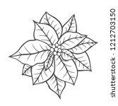 poinsettia isolated  christmas... | Shutterstock . vector #1212703150