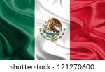 waving fabric flag of mexico | Shutterstock . vector #121270600