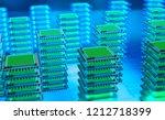 futuristic data center. big... | Shutterstock . vector #1212718399