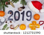 christmas layout with numbers... | Shutterstock . vector #1212731590