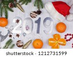 christmas layout with numbers... | Shutterstock . vector #1212731599