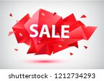 vector set of sale faceted... | Shutterstock .eps vector #1212734293