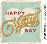 hand lettered vintage st.... | Shutterstock .eps vector #121273480