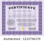 violet certificate or diploma...   Shutterstock .eps vector #1212746170