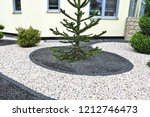 modern front garden with... | Shutterstock . vector #1212746473