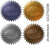 a set of four 3d rendered... | Shutterstock . vector #1212752230