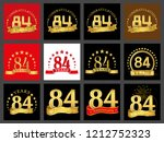 set of number eighty four  84... | Shutterstock .eps vector #1212752323