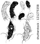 artistically painted feathers... | Shutterstock .eps vector #121275358