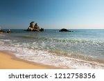coastal landscape of rocks and...   Shutterstock . vector #1212758356