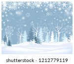naked and fir trees in forest... | Shutterstock .eps vector #1212779119