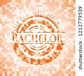 bachelor orange mosaic emblem... | Shutterstock .eps vector #1212779539
