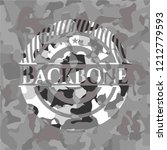 backbone on grey camo texture | Shutterstock .eps vector #1212779593