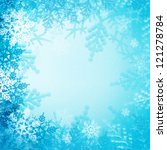 christmas snowflakes for... | Shutterstock . vector #121278784