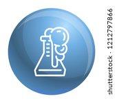 flask reaction icon. outline... | Shutterstock .eps vector #1212797866