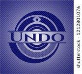 undo emblem with jean high...   Shutterstock .eps vector #1212801076