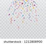 colorful bright confetti... | Shutterstock .eps vector #1212808900