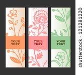 glamour invitation or greeting... | Shutterstock .eps vector #121281220