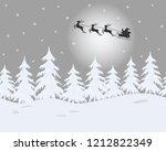 winter landscape. santa claus... | Shutterstock .eps vector #1212822349