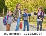 primary education  friendship ... | Shutterstock . vector #1212828739
