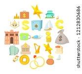monetary wealth icons set.... | Shutterstock .eps vector #1212830686
