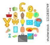 monetary abundance icons set.... | Shutterstock .eps vector #1212830749