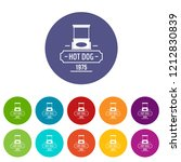 hot dog icons color set vector... | Shutterstock .eps vector #1212830839