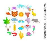 manifold icons set. cartoon set ... | Shutterstock .eps vector #1212830896