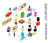 perfect body icons set....   Shutterstock .eps vector #1212831859