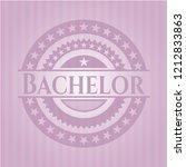 bachelor vintage pink emblem | Shutterstock .eps vector #1212833863