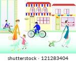 town people | Shutterstock .eps vector #121283404