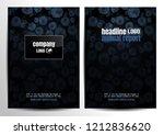 flyer brochure design. layout... | Shutterstock .eps vector #1212836620