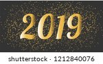 happy new year  new 2019... | Shutterstock .eps vector #1212840076