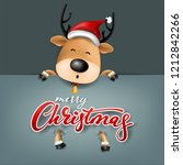 funny christmas greeting card ... | Shutterstock .eps vector #1212842266