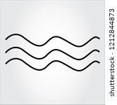 water wave  thin line icon... | Shutterstock .eps vector #1212844873