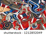 abstract composition. surreal... | Shutterstock . vector #1212852049