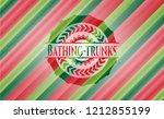bathing trunks christmas colors ...   Shutterstock .eps vector #1212855199