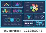 set of workflow or teamwork... | Shutterstock .eps vector #1212860746