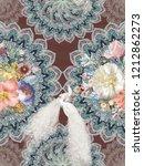 baroque damask pattern ... | Shutterstock . vector #1212862273