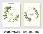 olive tree in a vector style... | Shutterstock .eps vector #1212868489